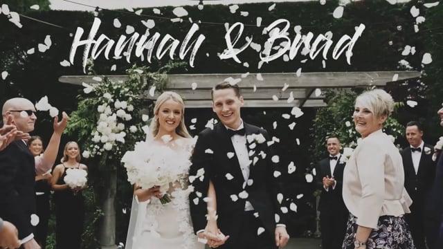 Hannah & Brad's wedding